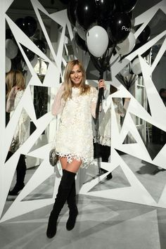 dana rogoz Lace Embroidery, Red Carpet, Sequin Skirt, Silk, Black And White, My Style, Celebrities, Skirts, How To Wear