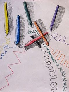 draw your crayons. Line. Value.