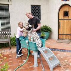 The Portable Dirty Dog Wash Tub makes washing your pets quick & easy…
