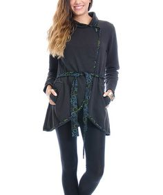 Look what I found on #zulily! Black Wrap Top by Royal Handicrafts #zulilyfinds