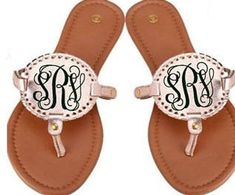 e54d0cd78 Monogrammed Disk Sandals - Personalized Interchangable Disc Sandals - Free  Shipping when ordered on DKWITTLEONES.BOUTIQUE