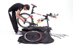 Packing a Scicon AeroComfort Triathlon bike bag
