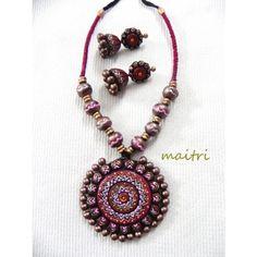 Terracotta Jewellery_The Chocolate Love Pink-Jewellery-Maitri Crafts
