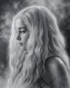 The beautiful blonde Emilia Clarke by Drawing-Portraits.deviantart.com on @DeviantArt