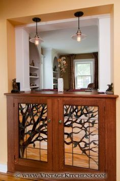 Craftsman style leaded glass YES!!