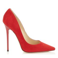 JIMMY CHOO Anouk Red Suede Pointy Toe Pumps. #jimmychoo #shoes #s