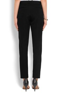 Givenchy - Straight-leg Pants In Black Grain De Poudre Wool - FR34