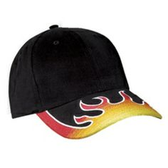 1de02b02cc1 Black Yellow Red Flame Racing NU Fit Flex Hat http   www