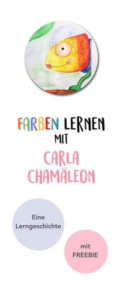 Learning colors with Carla Chameleon. A learning story for toddlers in kindergarten and kindergarten. And a freebie as a free printable as an occupation and for coloring. Kindergarten Portfolio, Learning Stories, Learning Colors, Chameleon, Primary School, Art Education, Kids And Parenting, Art Lessons, Object Lessons