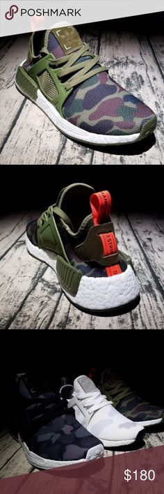 new arrivals 47a6c ed6d4 Adidas NMD Xr1 Duck camo green white black unisex Color black , white,  green