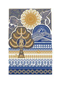 Иллюстрации Пунам Мистри в стиле этно