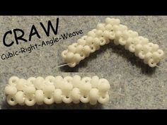 Cubic RAW beading Tutorial without Pictures – 2 Rows CRAW Pattern – Bead Cubic R… – 2019 - Weaving ideas Jewelry Making Tutorials, Beading Tutorials, Bijoux Wire Wrap, Right Angle Weave, Beaded Bracelet Patterns, Bead Jewellery, Jewellery Making, Seed Bead Bracelets, Weaving Patterns