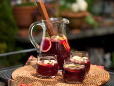Emerils sangria. I used orange, lime, plums, apple. Good even after soaking overnight.