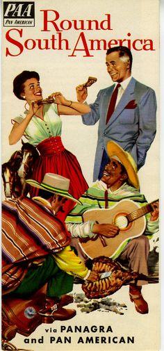 1950 Panagra Pan Am Airways South America Travel by wifecruella