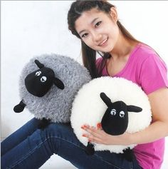Shaun the Sheep plush doll toy pillow queen ball Timmy sheep plush toys Children 30cm free shipping 482,99 руб.