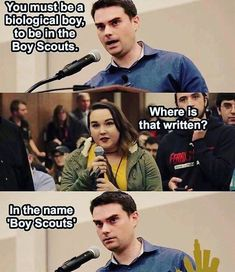 "324 Likes, 9 Comments - Young Conservatives (@youngcons) on Instagram: ""Ben Shapiro for the win! #boyscouts #gender #genderidentity"""