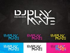 DJ PlayMate logo concept - by James Kontargyris