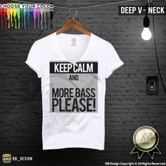 Men's Festival T-shirt Keep Calm And More Bass Please Music Tomorrowland MD496