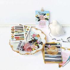 """We're THRILLED to share the brand new #IllustratedFaith #IF_Persevere kit with you - available at DaySpring.com. The kit comes in a clear, plastic string-tie envelope filled with gold-accented, translucent stickers, heart-shaped tip-ins, 25 delicately designed paper pieces, """"Persevere"""" washi tape and 10 coordinating stamps. ..."""