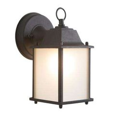 Tara Collection 1-Light Black Outdoor Wall-Mount Lamp