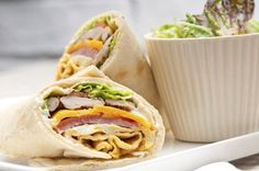 Pack Your Lunch Day A turkey wrap like this one from Tandoor Chef comes in under 400 calories and is a great lunchtime option! Kitchen Recipes, Diet Recipes, Healthy Recipes, Lunch Snacks, Avocado Wrap, Avocado Salad Recipes, Good Food, Yummy Food, Indian Food Recipes