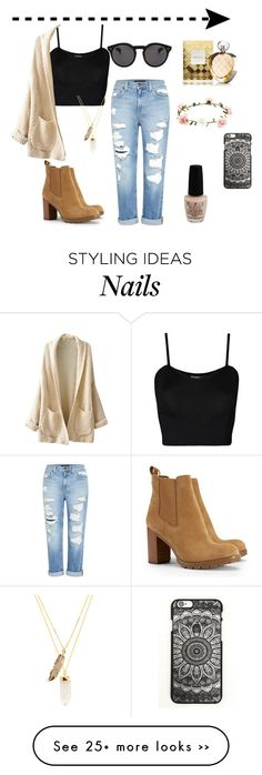 """""""Casualness"""" by bridget-valder on Polyvore featuring WearAll, Illesteva, Genetic Denim, Tory Burch, OPI, Accessorize, Elizabeth Arden and Privileged"""