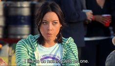 When she just wanted a quiet night in: | 19 Times April Ludgate Spoke For All People Who Hate People