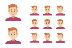 Boy Expressions Set  by Ponomariova on @creativemarket