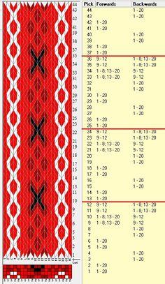 20 tarjetas, 4 colores, repite cada 12 movimientos// sed_808 diseñado en GTT༺❁