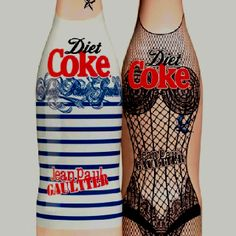 what's the purpose? who cares! it's fancy diet coke! -Jean Paul Gaultier Diet Coke bottles