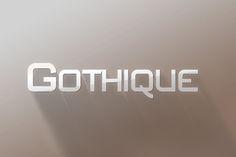 Check out Gothique Modern Sans Serif Font by mx-logo on Creative Market