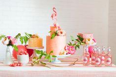 Table de dessert thème tropical