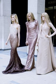 spreoccupied:    - Armani Prive  They are like three goddesses! So beautiful!    (via kisforkarlie)