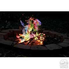 Rainbow Flame Sticks - Rutland Fire Clay Co 715CB - Fire Pits - Camping World