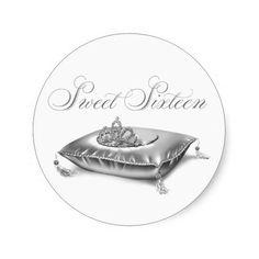 Tiara Princess Sweet Sixteen Stickers