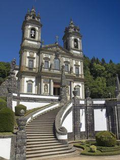 Bom Jesus Do Monte Baroque Church, Braga, Minho Province, Portugal