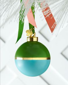 Green & Turquoise Colorblock Christmas Ornament by kate spade new york at Neiman Marcus.