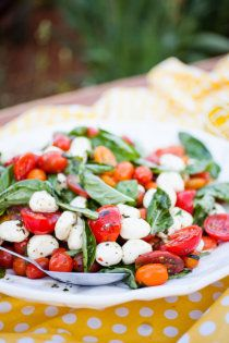 Salad: Tomato Mozzarella Salad - you can never go wrong with this recipie - add plenty of black pepper