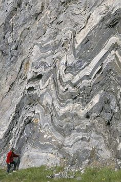 Folded gneiss, anticlines. Stunning!