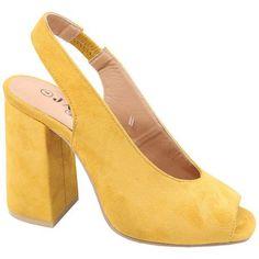 Ladies Open Toe Heel Mustard   Buy Online in South Africa   takealot.com South Africa, Open Toe, Mustard, Lady, Heels, Stuff To Buy, Fashion, Heel, Moda