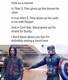 And they're still trying to convince us that they're not in love... Admit it guys, Stucky is canon