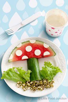 Red toadstools #kids #eat #kidseating #nice #tasty #food #kidsfood #desser