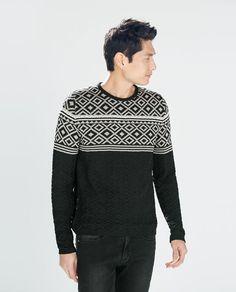 Sweater Jacket, Men Sweater, Knit Sweaters, Knitwear, Men's Fashion, Zara, Pullover, Wool, Knitting