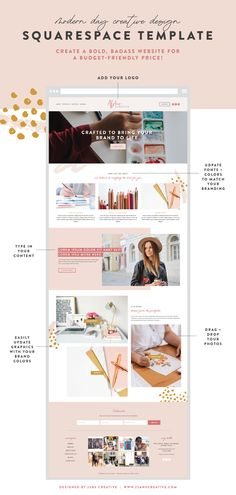 Get a bold, badass website for a budget-friendly price. Edit and launch your new website with this custom design and step-by-step videos today! Website Design Inspiration, Blog Website Design, Website Ideas, Blog Design, Website Styles, Fashion Website Design, Web Design Tips, Website Layout, Web Layout
