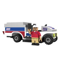 Oyo NFL New York Giants 135-Piece Trainer Cart Building Set