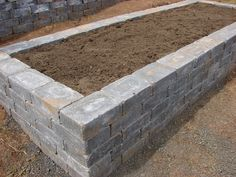 raised bed made out of stone