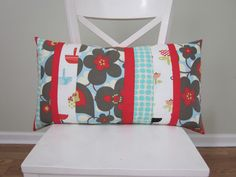 https://flic.kr/p/9giwgE | patchwork pillow (mostly Amy Butler fabric)