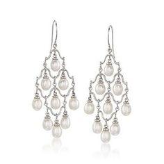 6-6.5mm Cultured Pearl Earrings in Sterling Silver - $67.50! Ross-Simon