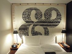 Mod Canvas Art Hanging over the best bed I ever slept in at the Ace Hotel, photo by Joanie Ballard