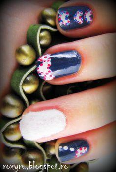 nail design using flocking powder
